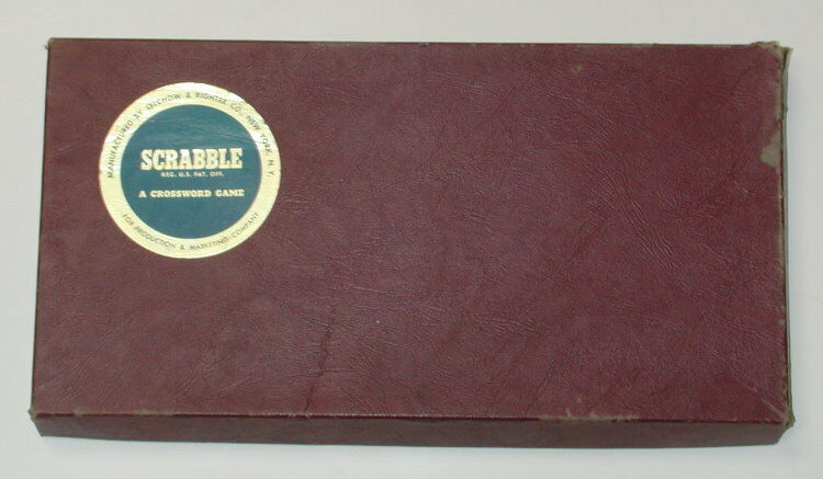 1953 Scrabble Selchow Righter Co. Complete