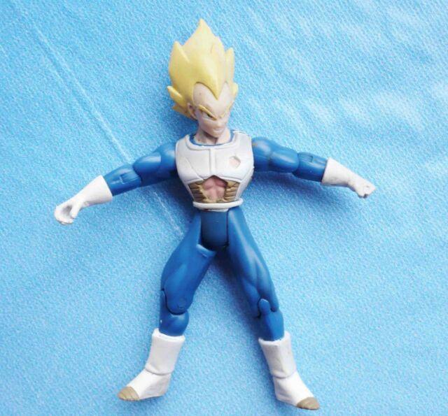 "2003 jakks Dragonball Z DBZ Super Saiyan SS VEGETA  YELLOW HAIR action figure 5/"""