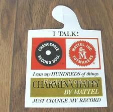 A WRIST hang TAG Reproduction Made For 1960/'s Mattel CHATTY BABY dolls