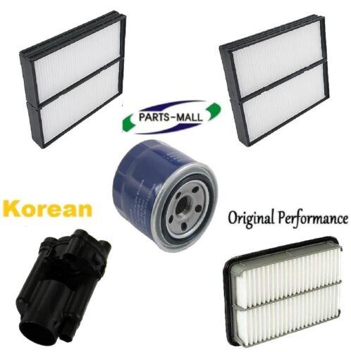 Tune Up Kit Cabin Air Oil Fuel Filters for Hyundai Santa Fe V6; 2.7L 2005-2006
