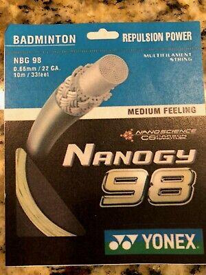 █EZBOX SPORTS█ YONEX NANOGY 98 Badminton Multifilament String 200M Coil NBG98