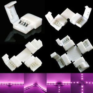 HOT-4Pin-L-T-X-Cross-Shape-PCB-Corner-Connector-For-RGB-5050-Led-Strip-Lighting