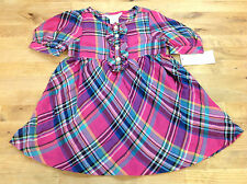 Ralph Lauren Baby Girls' Plaid Woven Babydoll Dress,Pink Multi,Size 18M,MSRP $55