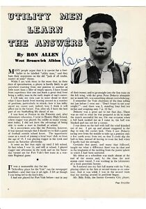RONNIE-ALLEN-WEST-BROMWICH-ALBION-1949-61-RARE-ORIG-TWICE-SIGNED-ANNUAL-CUTTINGS