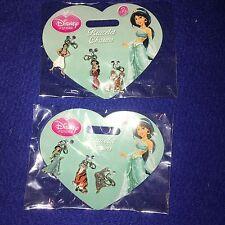 BNWT Disney Store Princess Jasmine Aladdin Charms 2 Sets Free P&P
