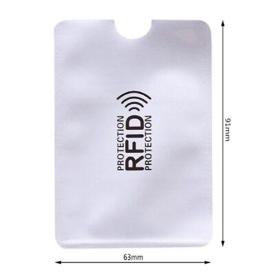 6x RFID Schutzhülle Soft Farben frei wählen EC Kartenhülle Kreditkarte Ausweis