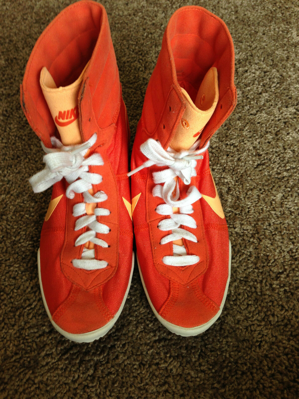 Nike Orange High Top Athletic Mens Size 7 Shoes 429887-800 ~ USED