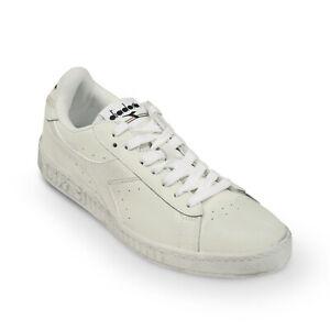 best service 94d90 07587 Dettagli su Scarpe Sneaker Uomo DIADORA Modello Game L Low Waxed White White