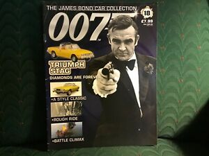 James Bond Eaglemoss Magazine Diamonds Are Forever #18 Triumph Stag