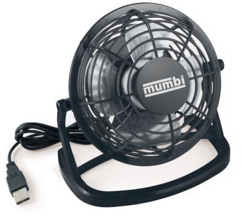 Mumbi USB Ventilatore mini tavolo venti fan per Computer Notebook Laptop Nero