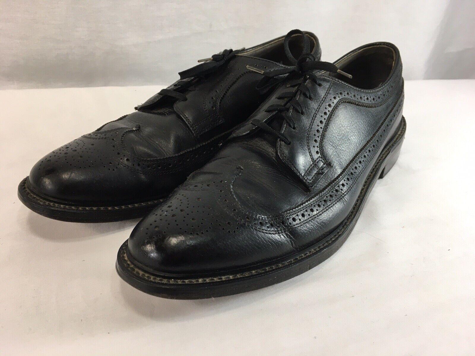 acquista marca VTG Dexter Wing Tip Oxfords Dress Dress Dress scarpe Uomo 13 C nero Leather USA  il miglior servizio post-vendita