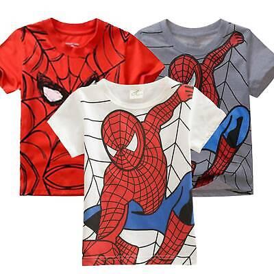 Spiderman Boys T Shirt Shorts