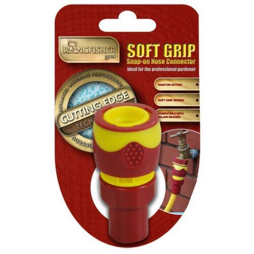 """Pro Gold Snap on 1//2/"""" Femelle Tuyau Connecteur D/'eau Jardin Stop Soft Grip bricolage"""