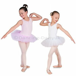 be5ccc4ce3d4 New Lily Girls Ballet Tutu Leotard Ballet Dress Pink White Age 2-12 ...