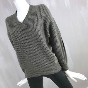 7e8a7563 Image is loading Brunello-Cucinelli-Oversize-Chunky-CASHMERE-Wool-Silk- Jumper-