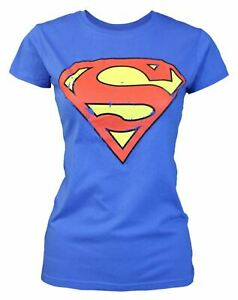 Superman-Distressed-Logo-Women-039-s-T-Shirt