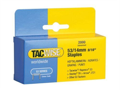 tipo jt21, un 53 ligeros Grapas 14 mm Pack 2000-tac0338