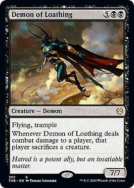 Rare MTG Magic Theros Beyond Death Demon of Loathing NM