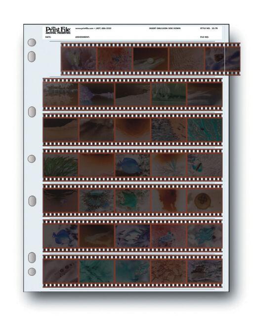 100 Pack Print File Storage Sheets 35-7B for 35mm Film Negatives 7 Strips