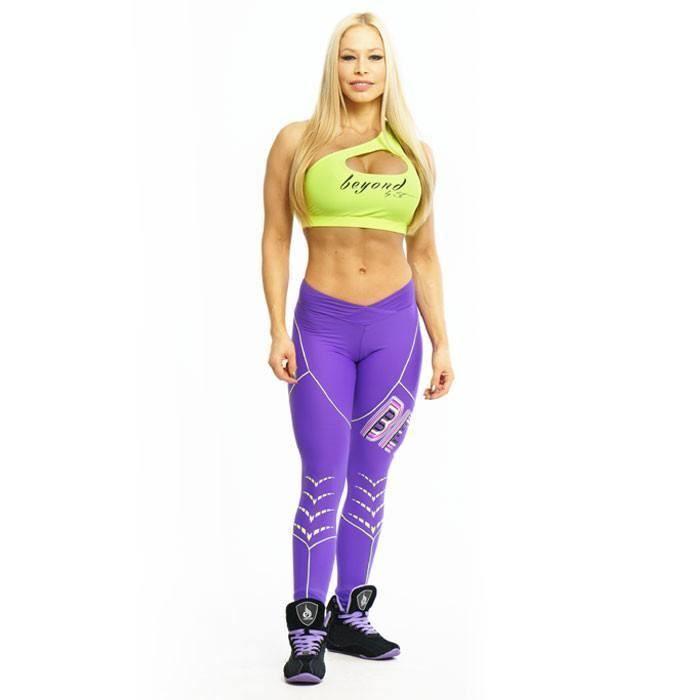 Beyond by ST Arrow Leggings Purple