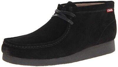 Clarks NIB Men/'s Black Suede Stinson Wallabee High Chukka Boots