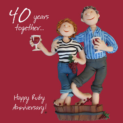 Another Year Happy Anniversary Greeting Card One Lump or Two Holy Mackerel Cards