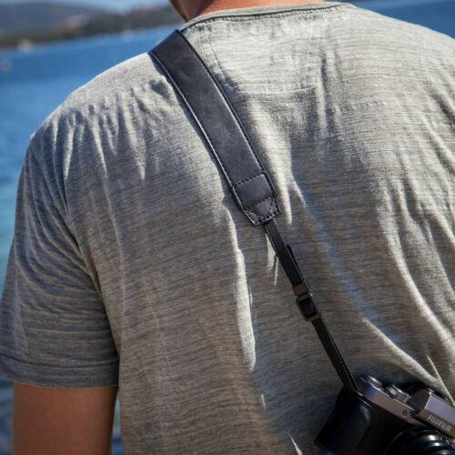 fuji Sony Cámara cinturón en cuero-Optik: correa para el hombro para Canon etc. Nikon