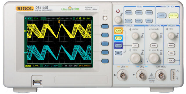 New RIGOL DS1102E 100Mhz Oscilloscope FREE PADDED BAG & Free Shipping NEW PRICE