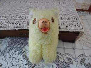 Antique-BEST-MADE-TOYS-Canada-Yellow-Bear-Rubber-Snout