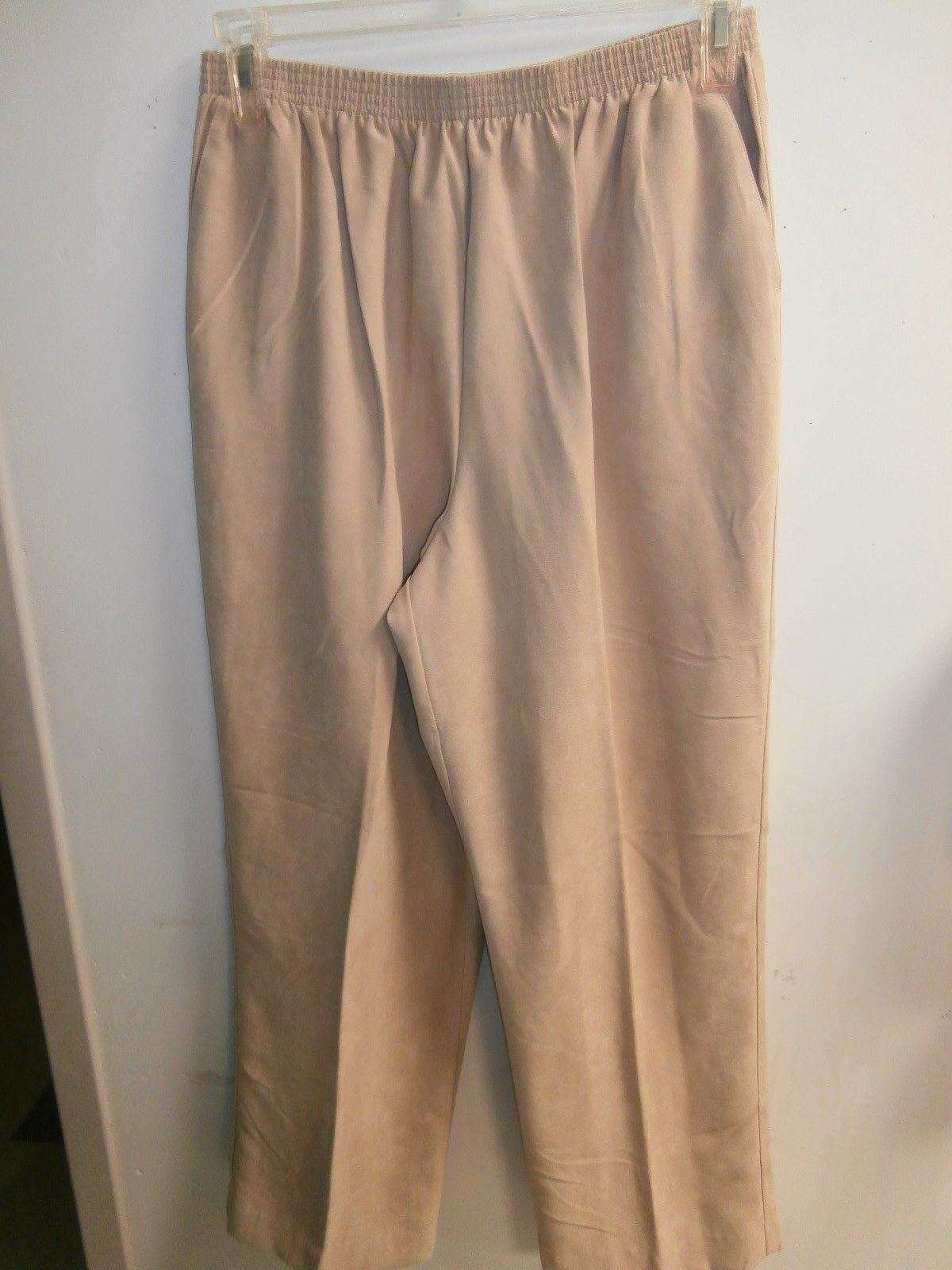 ALFrot DUNNER  sz 16 PANTS- NWOT BEIGE SOFT FEEL  10315-2