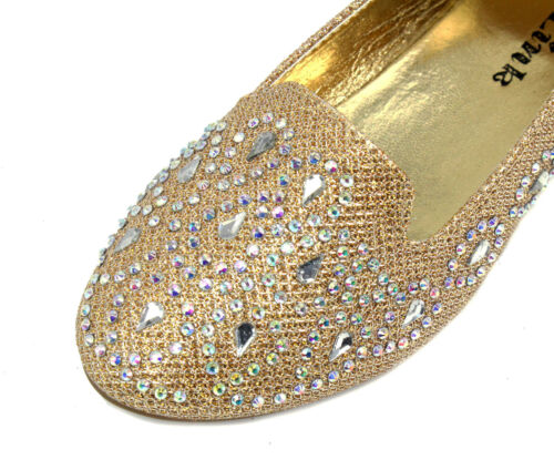 lonita-74k New Kids Toddlers Youth Blink Flat Party Wedding Girl/'s Shoes Gold 11