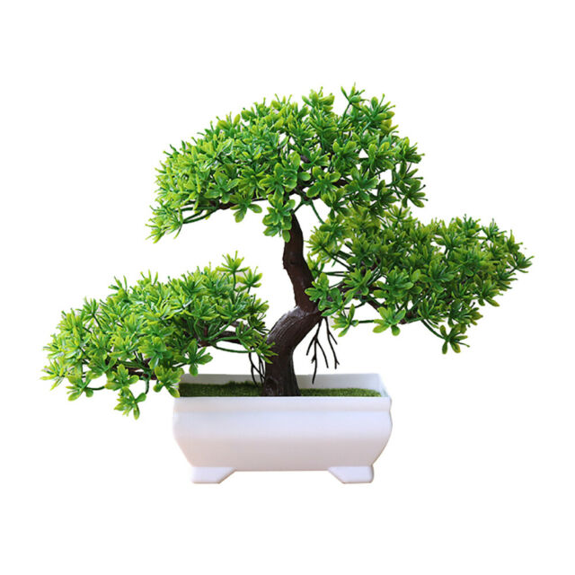 Plastic Artificial Planter Tree Bonsai Office Plant Fake Living Pretty Decor For Sale Online Ebay