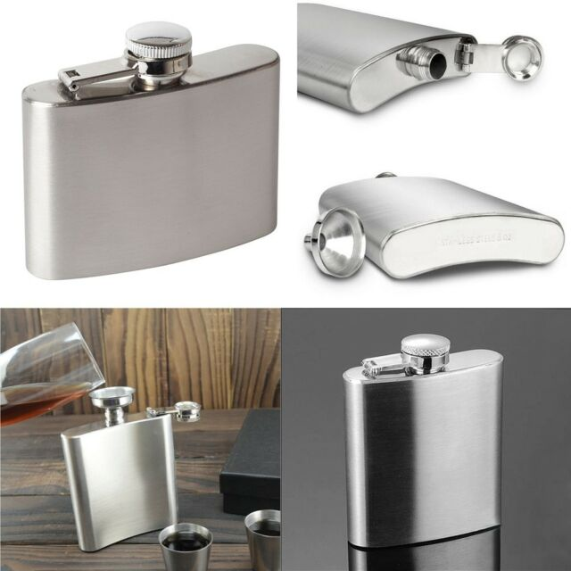 Stainless Steel Hip Flask Flagon Portable Wine Whisky Bottle Drinkware