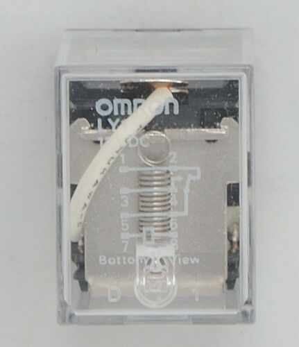 Omron  LY1-DC12 SPDT 12VDC Coil Square Base Plug-In Relay 11 Pin 15A 1YDD5