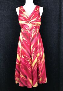JONES-NEW-YORK-Spice-Red-Sleeveless-A-Line-Dress-Size-6