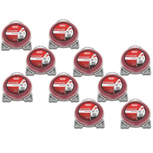 """Oregon 23-300 50ft Gatorline Donut 0.095/"""" 10 Pack Gauge Pro Round String Trimmer"""