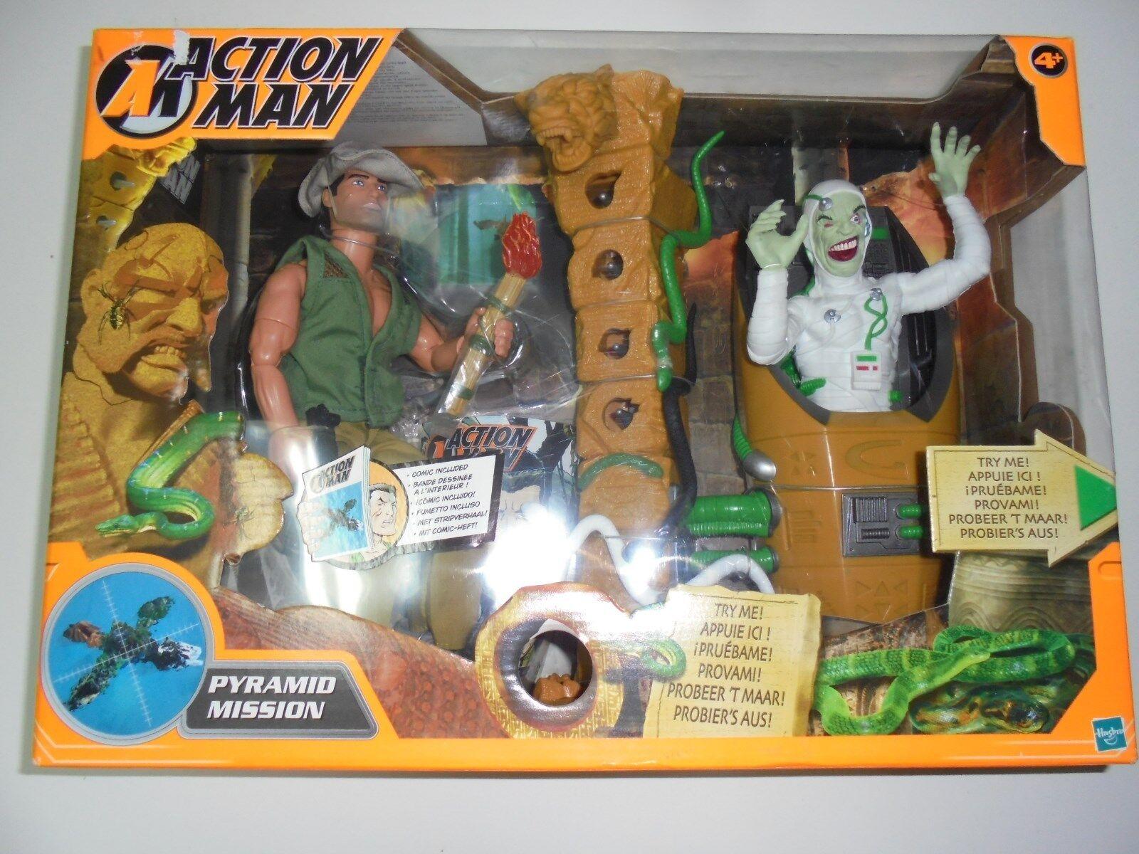 Action MAN missione PIRAMIDE HASBRO 2002 NUOVO-Nuovo di zecca ancora sigillata in scatola la figura