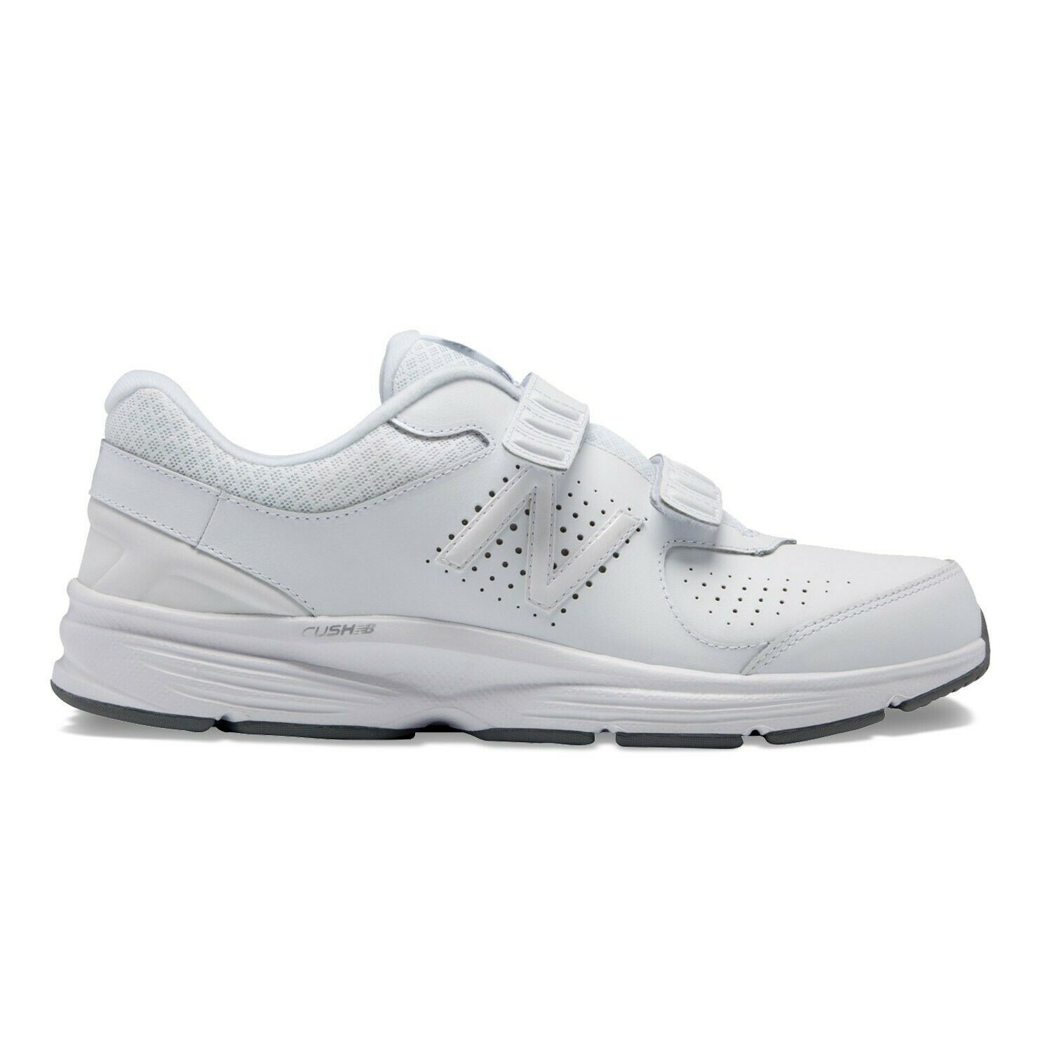 NEW BALANCE 411 V2 Hook and Loop Walking MENS D Medium Width White MW411HT2