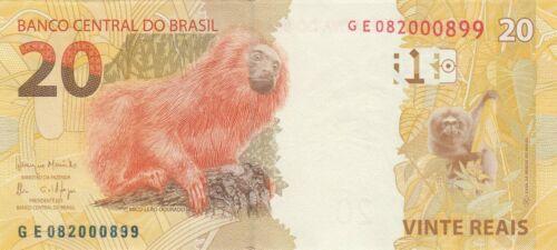 Brazil 20 Reais 2010//2018 Golden Lion Tamarin//p255-New UNC