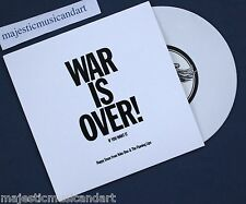 """LIMITED 500 THE FLAMING LIPS WAR IS OVER 7"""" WHITE VINYL 1ST PRESS YOKO ONO MINT"""