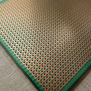 2x-Stripboard-Prototyping-10x24-5cm-uncut-pcb-platine-Single-Side-circuit-board