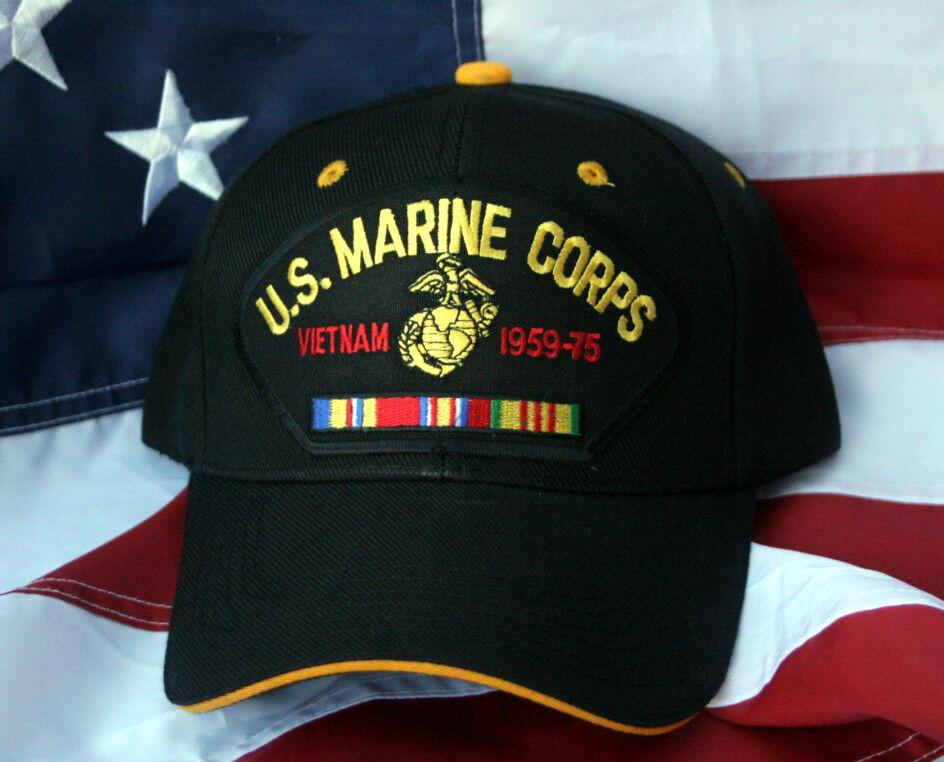 f1dd8d10c US MARINE VIETNAM VETERAN RIBBONS CAP HAT COMBAT ACTION WOWMH NAM ...