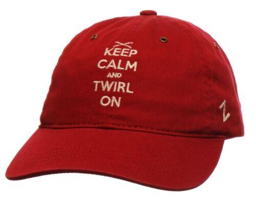 Keep Calm /& Twirl On Zephyr Adjustable Baton Twirling Hat Red