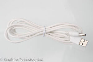 2 M Usb Blanc Chargeur Câble D'alimentation Pour Vtech Vm5271 Pu Unité Parent Moniteur Bébé-afficher Le Titre D'origine