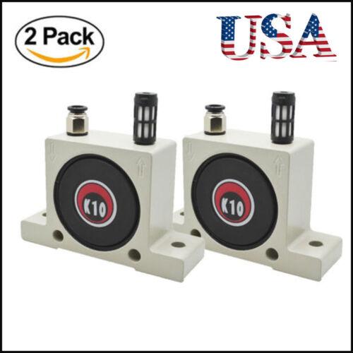 2Pcs K10 Industrial Pneumatic Turbine Ball Vibrator With Silencer/&Connector USA