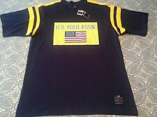 U.S. Polo Assn. Blue Yellow T Shirt Tee Yellow Graphic with American Flag NWT XL