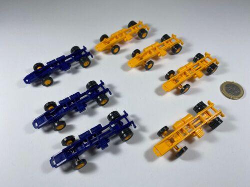 X13 ses Espewe alt 7 lots Châssis CHASSIS SZM UNIC ASG orange bleu 1:87 ho