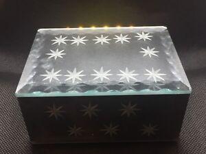 Mirrored  Glass Trinket/Jewelry Box With stars/ New in a box