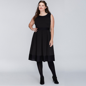 5816ca6db38 NEW  90 LANE BRYANT PLUS SIZE SCUBA FIT   FLARE DRESS Plus Size 22W ...