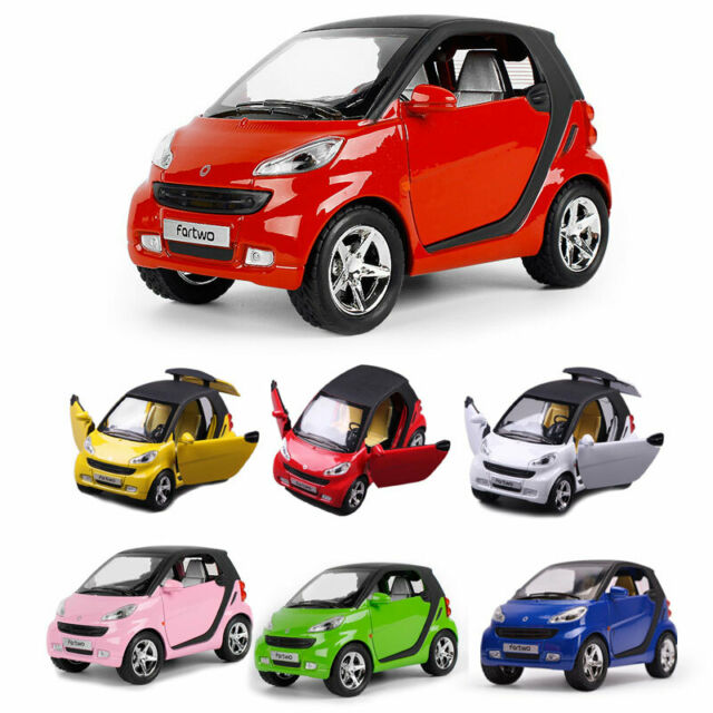 1:24 Benz Smart Fortwo Pickup Car Model Metal Diecast Toy Vehicle Collection Kid